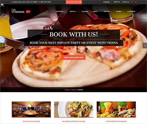 premium twitter bootstrap 3 wordpress restaurant theme