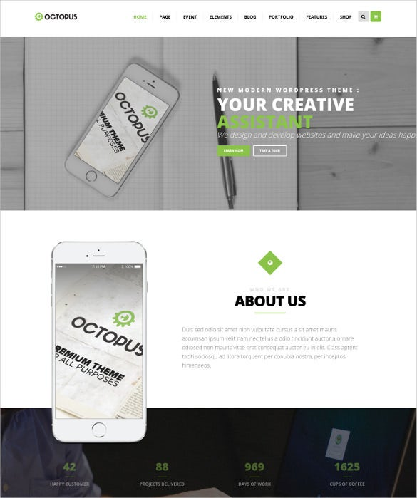 fully responsive multipurpose business wordpress theme