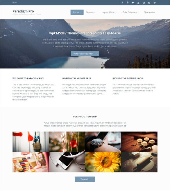 modern business wordpress website template