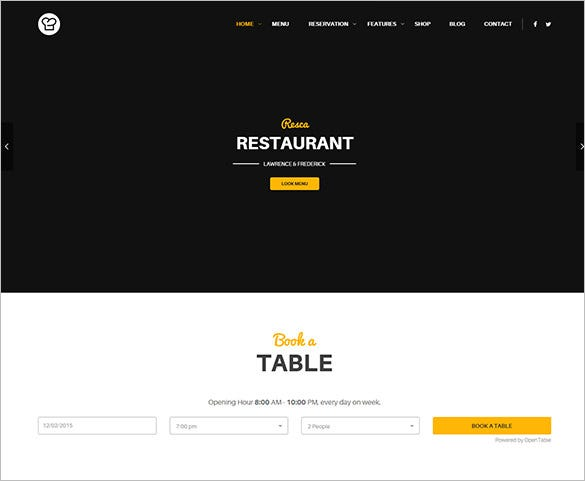 perfect drag drop page builder wordpress restaurant cafe theme