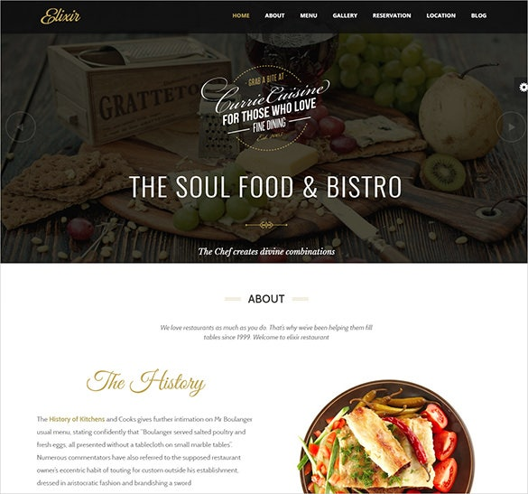 clean and professional bakery food business wp theme