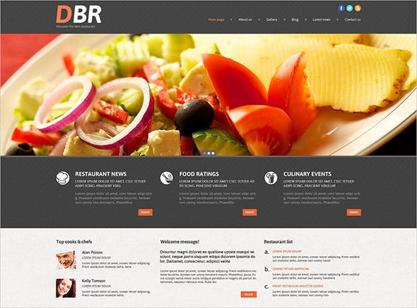 amazing lazy load effect european restaurant wordpress theme