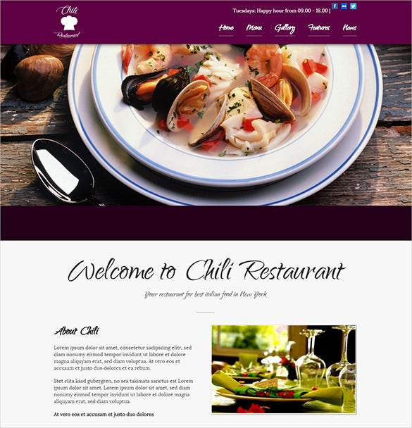nice deisgn chili foods and drinks wordpress restaurant theme
