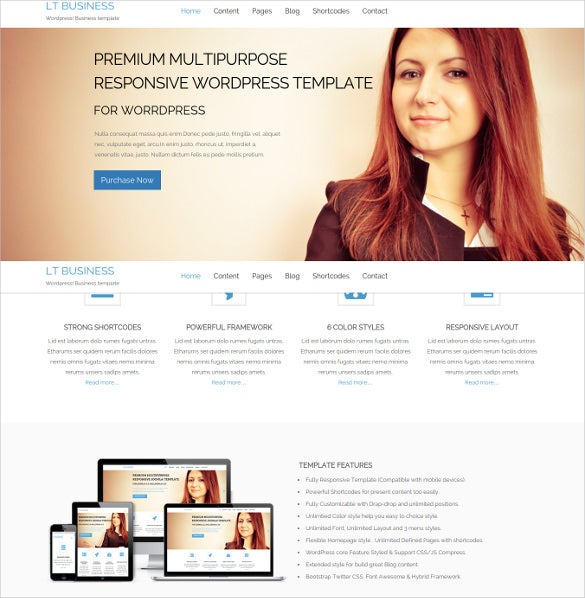 premium wordpress theme for corporation business company