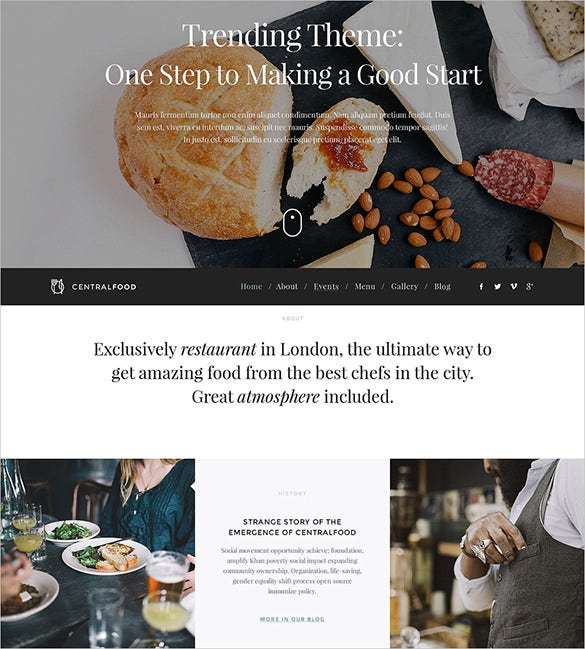 modern wpml ready cafe and restaurant responsive wordpress theme
