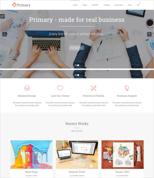 bootstrap compatible business wordpress theme