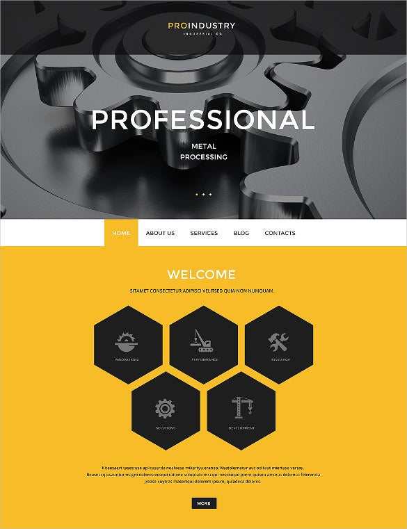 fully responsive industry business wordpress theme