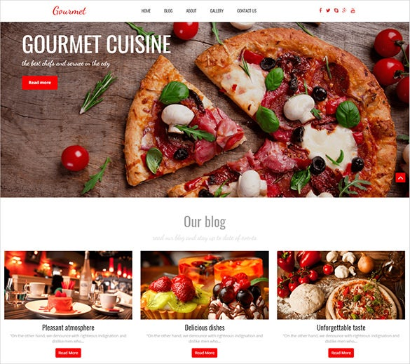 premium seo optimized restaurant wordpress thee