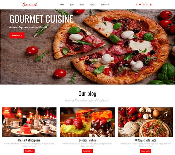 clean eye catching wordpress bar bistro fast food theme