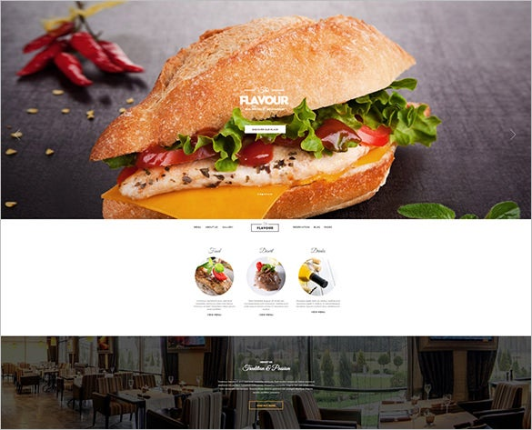 modern admin framework restaurant wordpress them
