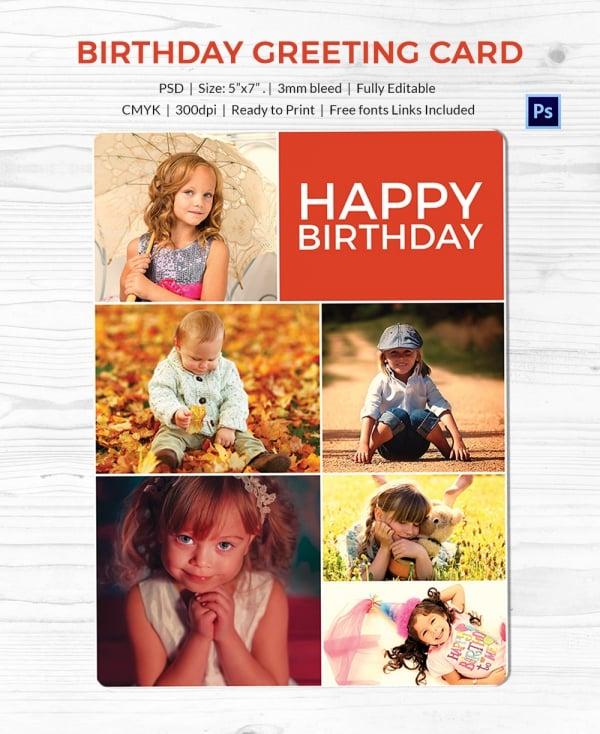 redymade birthday greeting card