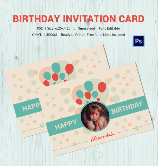 Elegant Birthday Invitation Card