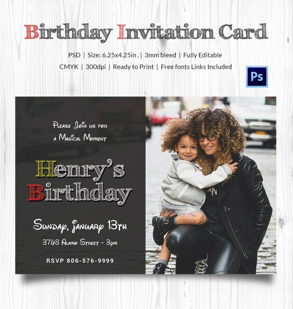 Disney Styled Birthday Invitation Card