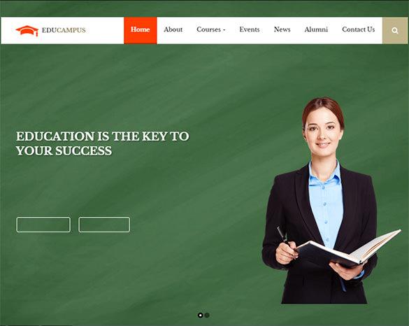 beautiful design retina ready education university wordpress theme