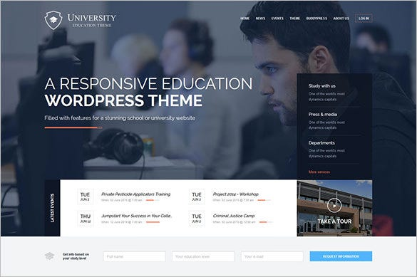 attractive fully responsive university education wp theme