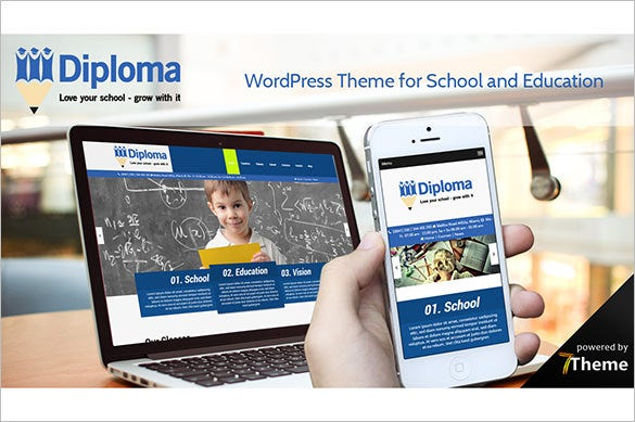 easy to use customizable diploma education school wp theme