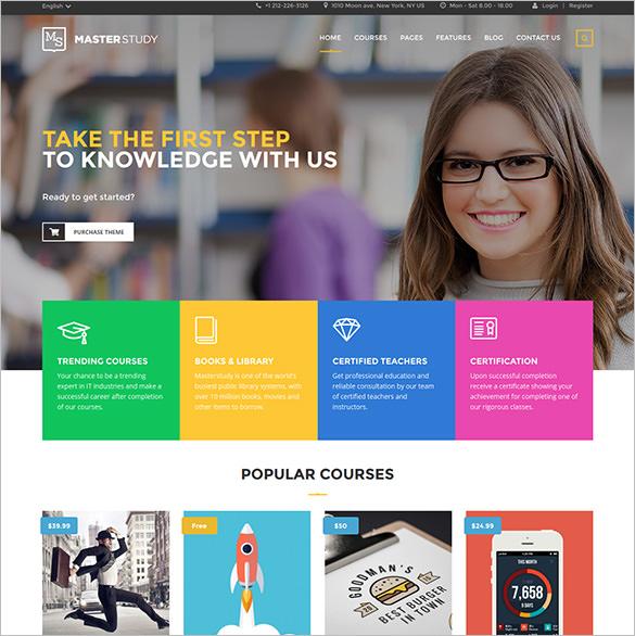 simple revolution slider masterstudy education center wordpress theme