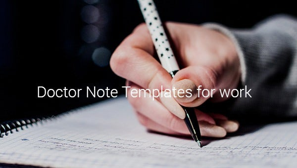 doctor note templates for work