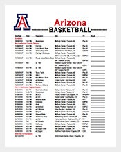 Arizona-Basketball-Schedule-Template-Free-PDF-Format