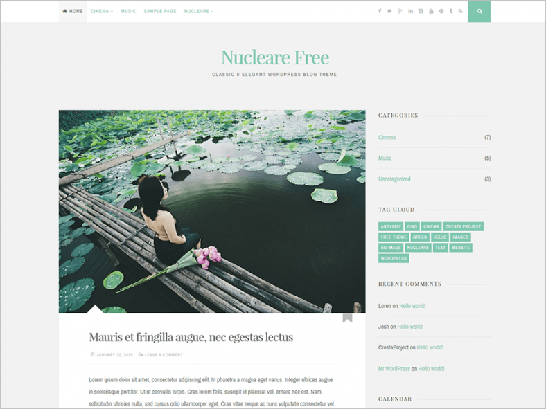 2 Columns Elegant WordPress Theme Free Download