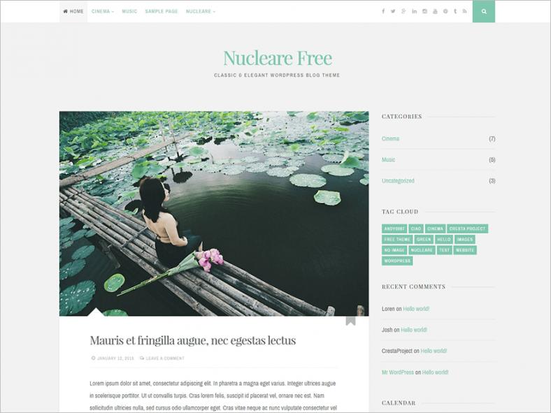 2 columns elegant wordpress theme free download 788x591