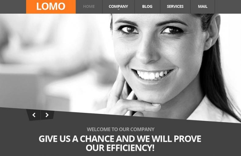 2 Columns Gray Joomla Template for Consulting