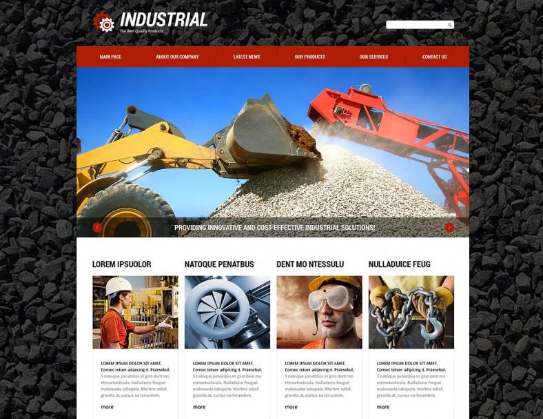 2 Columns Industrial Joomla Template