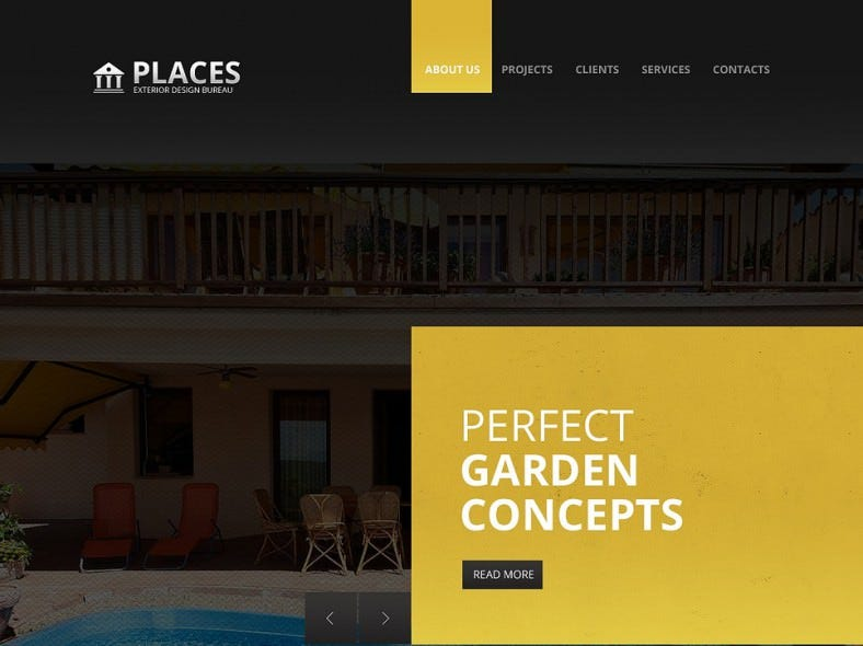 2 columns website template for exterior design 788x590