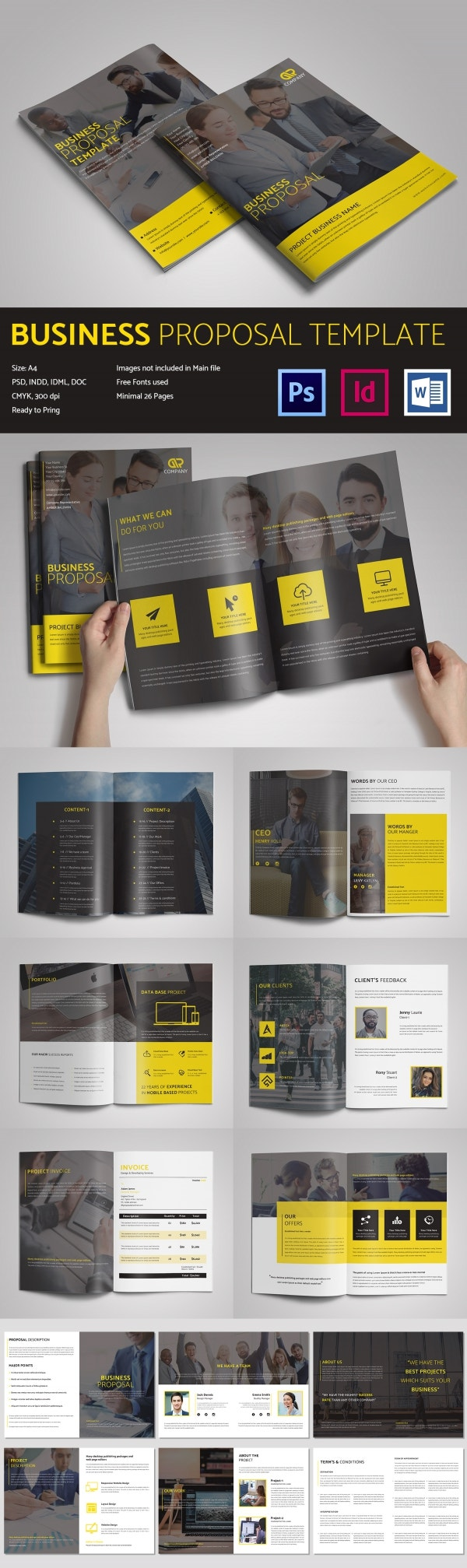 Well Designed Business Proposal Template