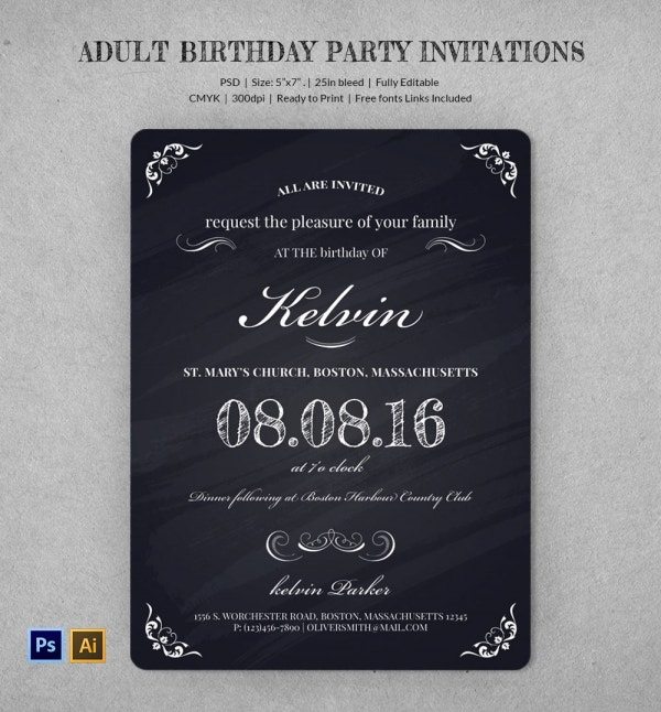 Adult Birthday Party Invitations Sparkles of Surprise