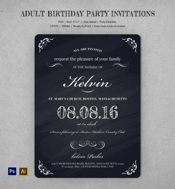 Editable 50th Birthday Invitation Templates Printable Editable Blank – Birthday Invitation Templates Free Word