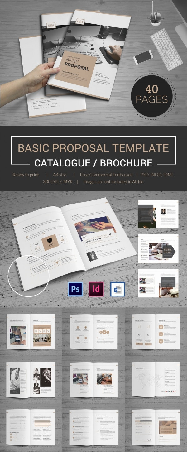 Print Ready Project Proposal Template In PSD Format  Example Of Project Proposal Used