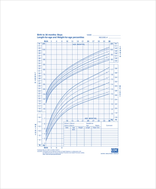 Baby Weight Growth Chart Template - 5+ Free Pdf Documents Download