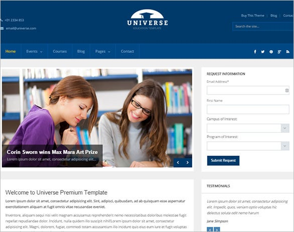 clean and modern responsive education wordpress theme