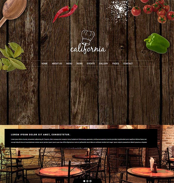 easy to use html5 restaurant hotel coffee bar website template