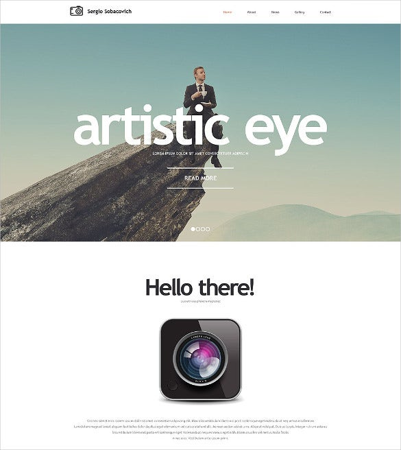 awesome parallax photographer portfolio website template