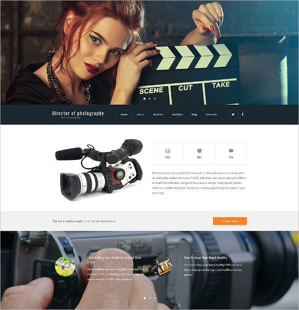 amazing photographer portfolio website template