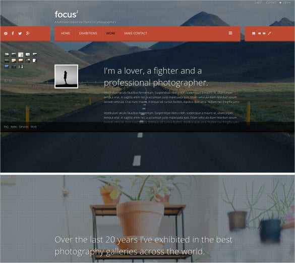 full screen bootstrap support photography theme