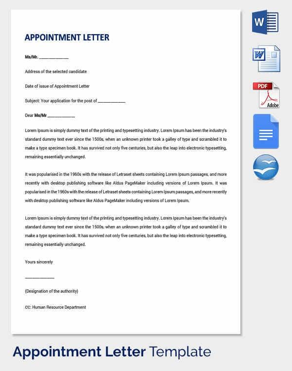 Job Application Letter Sample Free Download