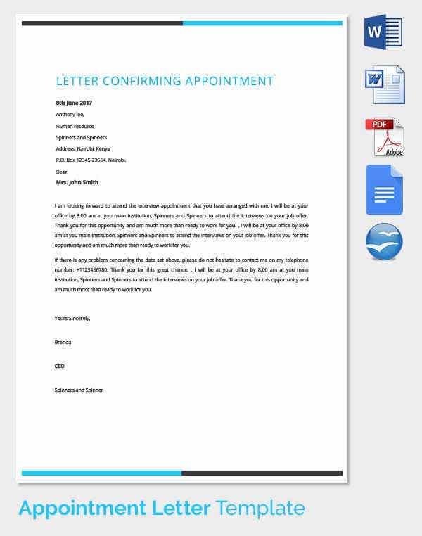 Auditor Appointment Confirmation Letter