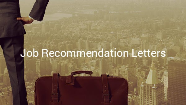 jobrecommendationletters