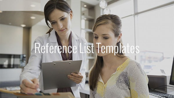reference list templates