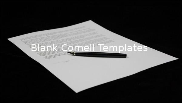 blank cornell templates