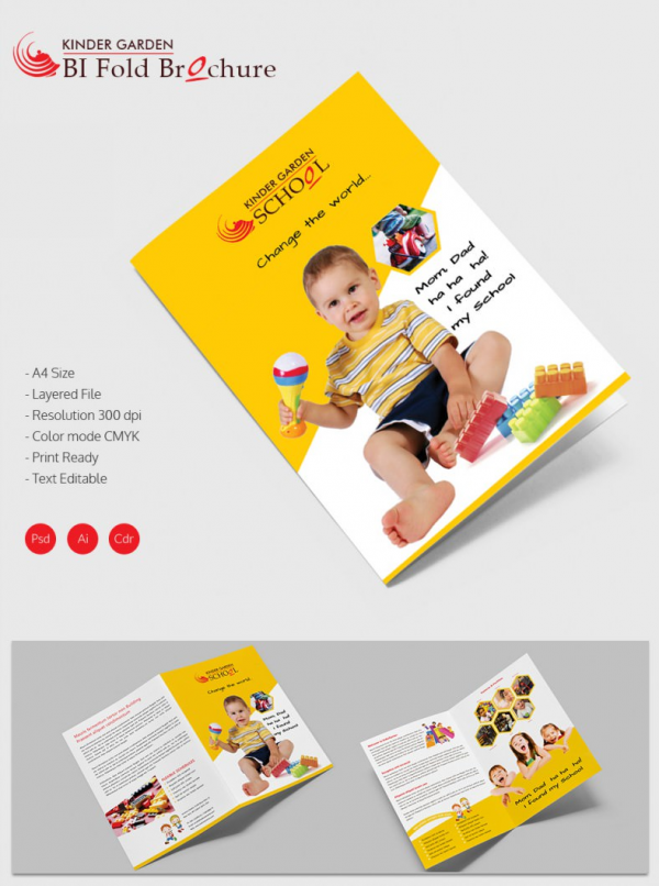 22 Kindergarten Brochure Templates Free Psd Eps Ai Indesign