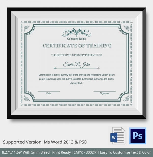 Training Certificate Template Presentation