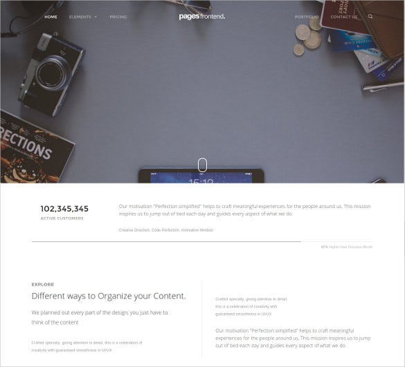 modern multi purpose html5 website template