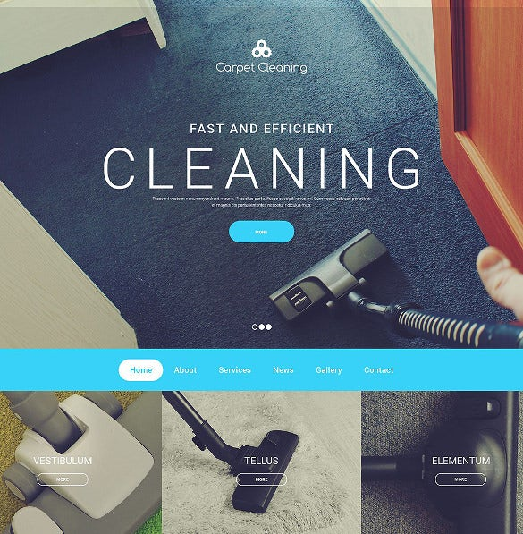 flexible portfolio carpet cleaning website template