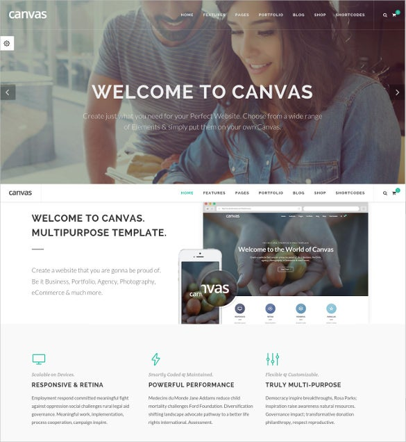 responsive retina ready multi purpose html5 template