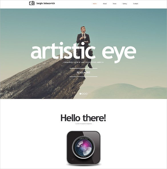photographer portfolio html5 website template
