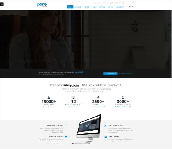 responsive html5 template for web designer